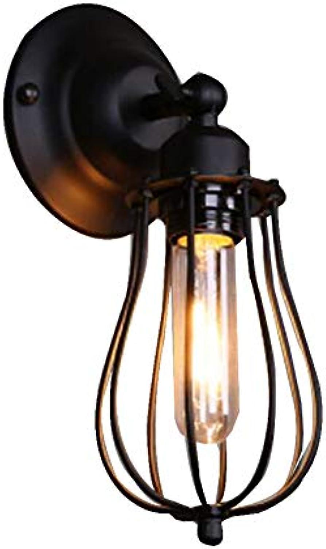 MICOKY Wand Lampe Eisen einzigen Kopf Korridor Balkon Treppe Bar Cafe E27 Wandleuchte