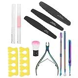 Práctico kit exfoliante cutícula herramienta removedor de piel muerta para principiantes para hombres mujeres para uso en el hogar para belleza