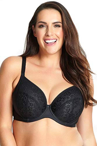 Sculptresse by Panache Women's Plus-Size Roxie Plunge Bra Bra, Black, 38 GG