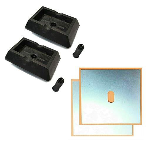 voor 5-serie E39 opname hefbrug krik 2 x rubberen blok adapter 2 x lasplaat 130 x 100 x 1,2 mm