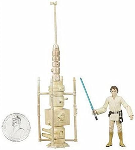 Star Wars 30th Anniversary Luke Skywalker Tatooine Moisture Farmer Action Figure  18 with Coin by Hasbro (English Manual)