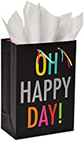 American Greetings Medium Happy Day Gift Bag with Tissue Paper; 1 Gift Bag and 6 Sheets of Tissue Paper