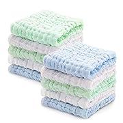 Baby Musselin Waschlappen, Weiche Neugeborene Baby Gesichtstücher, Mehrzweck-natürliche Baumwolle Baby Wipes (10 PACK A) (Pink, 10-1) (10 PACK B)