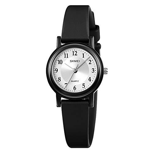 YIBOKANG Chica Menos Moda Reloj Impermeable para Niños Jelly Color Student Sports PU Reloj De Cuarzo (Color : 1)