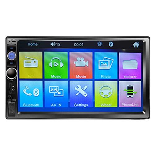 QIQIDIAN Navigazione GPS Autoradio HD Touch Screen Lettore Multimediale Radio Stereo Automatica Universale da 7 Pollici,7023b with 8 ir