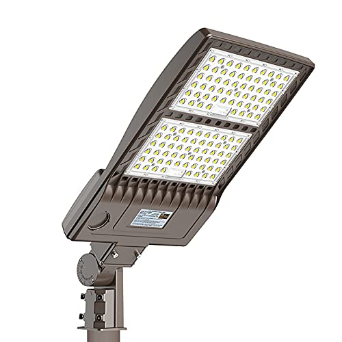 LED Parking Lot Lights 320W, DLC/UL 44800LM 5000K LED Shoebox Street Pole Lights[1000W HID/HPS Replacement] Outdoor IP65 Waterproof 110V 120V Commercial Area Road Lighting Slip Fitter