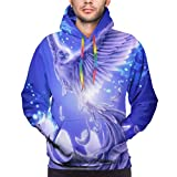 Love girl Púrpura Azul Phoenix Bird Sudadera con Capucha para Hombre Performance Light Weight...