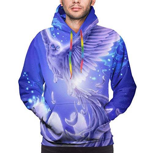 Love girl Púrpura Azul Phoenix Bird Sudadera con Capucha para Hombre Performance Light Weight Training Tech Sudadera Deportiva