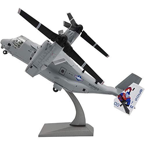WZRY Model plane, Military Airplane Model,1:72 V-22 Osprey Military Transport Aircraft Model,Foldable Diecast Plane,for Commemorate Collection or Birthday gift
