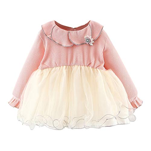Toddler Baby Kid Girl Ruffles Lace Tulle Patchwork Flower Casual Dresses Clothes