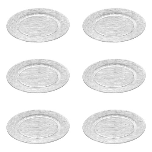 Leonardo City Platz-Teller, runder Glas-Teller, transparenter Speise-Teller aus Glas, 6er Set, Ø 310 mm, 080164