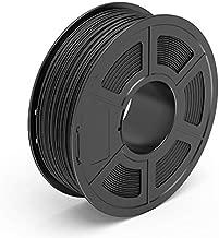 TECBEARS Carbon Fiber PLA 3D Printer Filament 1.75mm Carbon Black, Dimensional Accuracy +/- 0.02 mm, 1 Kg Spool, Pack of 1