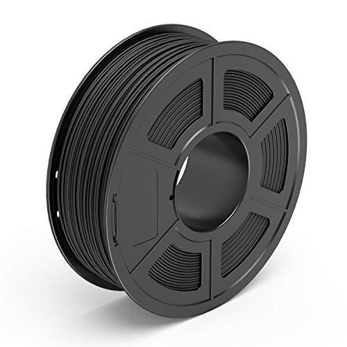 TECBEARS Fibra de Carbon Filamento de Impresión 3D, 1.75mm Negro Carbón, Precisión Dimensional +/- 0.02 mm, 1kg Carrete, 1 Paquete