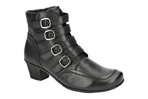 Gabor Damen Stiefeletten Schwarze Stiefelette mit Schnallen 34-695-27 schwarz 808562