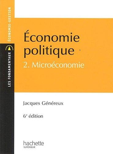 Économie politique 2