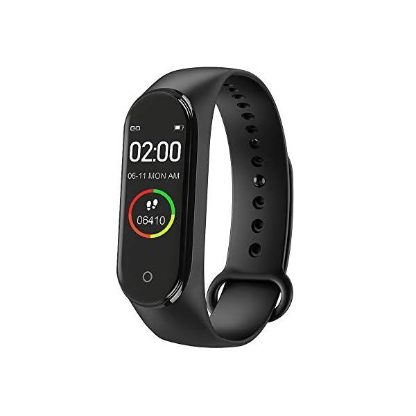 bqlove M4 Fitness Tracker, Reloj De Seguimiento De Actividad con Monitor De Ritmo CardíAco, Banda De Fitness Inteligente… 3