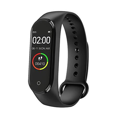 M4 Smartwatch, IP 67 Impermeabile Fitness Tracker Braccialetto Intelligente Pressione Sanguigna Monitor Frequenza Cardiaca per Uomo e Donna