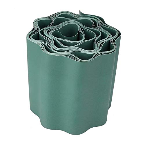 YNuo Jardín Césped Ribete Tira de plástico Flexible Frontera decoración Patio Cerca 9M (Color : Green)