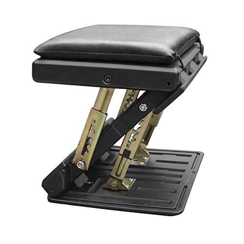 CONRAL Verstellbare Fußstütze mit Massageperlen für Reise und Büro, in Höhe und Winkel Verstellbarer 4 Stufen Fußstützenhocker für die Schreibtischunterstützung, mit Kissen,Black
