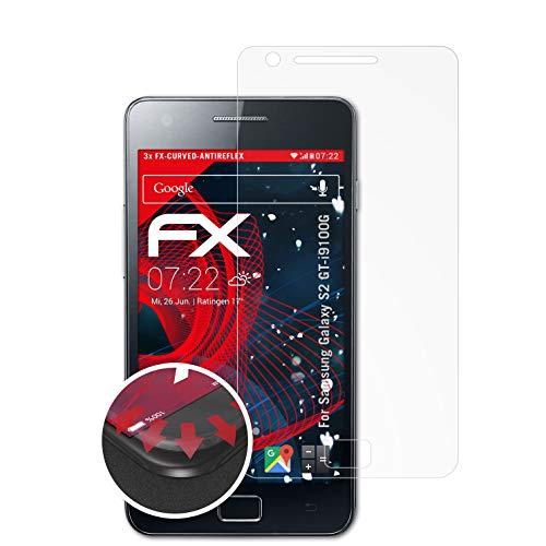 Preisvergleich Produktbild atFolix Schutzfolie kompatibel mit Samsung Galaxy S2 GT-i9100G Folie,  entspiegelnde und Flexible FX Displayschutzfolie (3X)