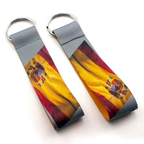 Schlüsselanhänger Schlüsselband bedruckt (Hunde-Katzen-Flaggen-Pferde.) Motiv Spanien