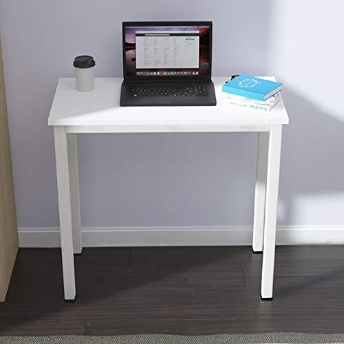 SogesHome Mesa pequeña para ordenador de 80 x 40 cm, mesa compacta, escritorio de oficina, escritorio de esquina, para casa, oficina, pequeño escritorio, mesa infantil, color blanco SH-LD-AC80WT