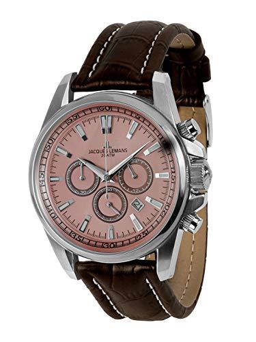 Jacques Lemans Liverpool–Reloj de Pulsera analógico de Cuarzo Piel 1–1117rn
