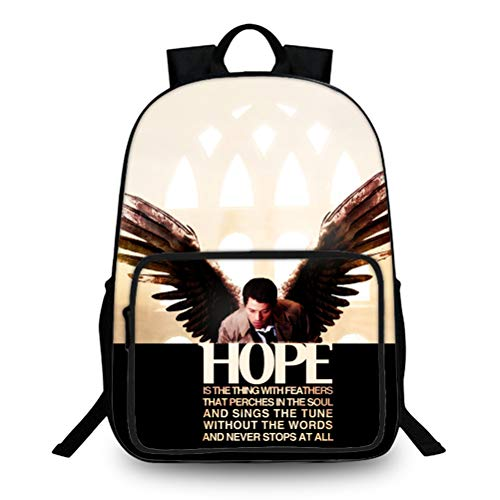 Supernatural Popular Styles Backpack Suitable for School Boys and Girls Trendy Design Travel Bag Printed Leisure Daypack Compact and Lightweight School Bag Kids (Color : A01, Size : 40 X 27 X 15cm)