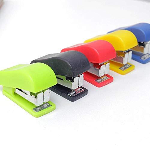 Heng Mini kleine kleuren nietmachine Kantoor Schoolbenodigdheden Staionery Paperclip binding Binder Boek, willekeurig 1 kleur