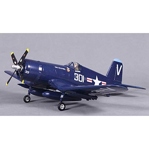 Fms RC Airplane 800mm F4U Corsair V2 Blue PNP, 4 Channel Remote Control Airplane Ready to Fly Rc Planes for Adults (NO Radio, Battery, Charger)