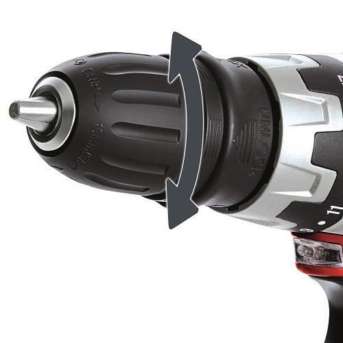 Einhell TC-CD 12 Li Taladro sin Cable con Cabezal Extraible, 12 V, 2 velocidades, mandril portabrocas desmontable, luz LED, cargador, maletín