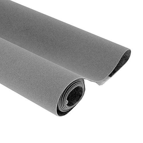 Taogift Self Adhesive Grey Velvet Shelf Liner Paper for Drawer Dresser Cabinets Jewlery Displays Backsplash Arts Crafts Decor (Grey, 17.7x98 Inches)