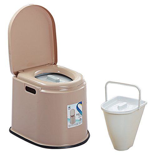 MyAou-commode Toilette Chaise Portable Toilette Antidérapante Toilette Voyage Camping Randonnée Pique-Nique en Plein Air (Couleur : Marron)