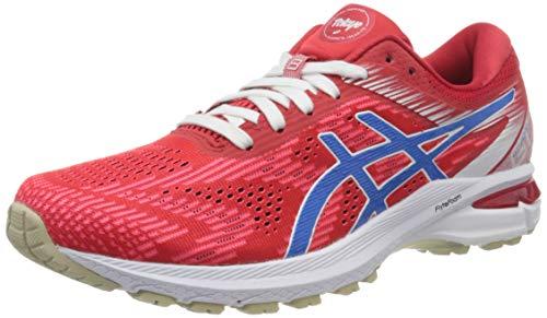 Asics Gt-2000 8, Zapatilla de Correr para Mujer, Rojo CLÁSICO/Azul ELÉCTRICO, 38 EU