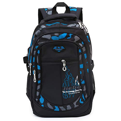 Backpack for Boys Student School Bookbag Kids Durable, A-Blue, Size One_Size