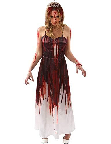 ORION COSTUMES Costume de déguisement d'Halloween du film d'horreur gore des années 70 Prom Queen pour femmes