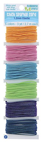Sulyn Thick Sparkle Elastic Cord, Assorted Colors, 18 Yards