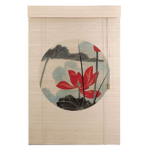 LIANGJUN Bamboe Gordijn Rolgordijn Drukwerk Partitie Decoratie Schaduw Ophangen Schilderij Restaurant Balkon - Grootte Aanpassing