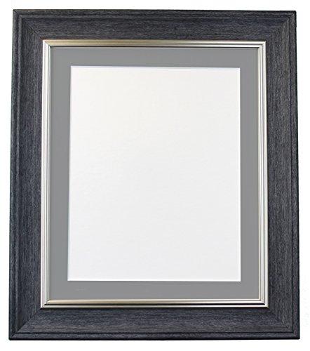 Frames By Post Scandi Vintage fotolijst Donkergrijze houder 45 x 30 cm Image Size 14 x 8 Inches antraciet