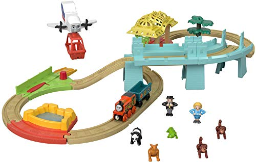 Thomas & Friends FXT66 Fisher-Price Wood, Big World Adventures Set, Multicolor