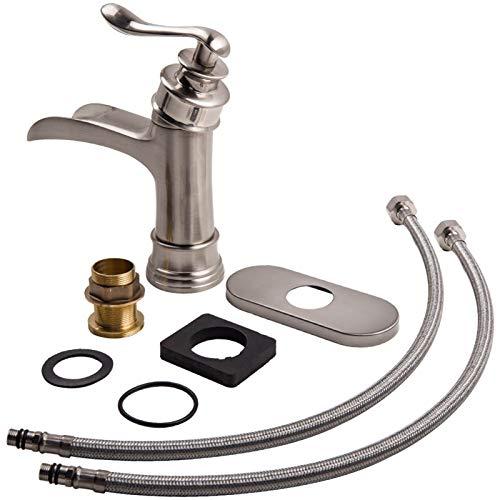 Fácil de Instalar Faucet Bathroom Flority Faucet Encimbalaje Fregadero Cubierta Instalación Faucet Funda Fengdiu