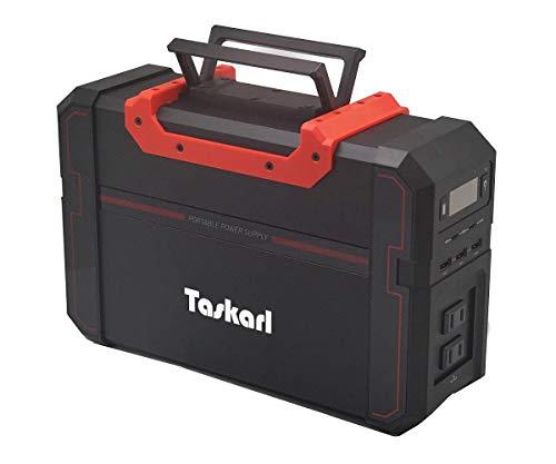 【Taskarl】TPD-S450 大容量ポータブル電源120000mAh/444Wh PSE認証済 AC電源 DC電源 USB対応ソーラー充電 ノートPC iPhone/iPad 車中泊 キャンプ、緊急・災害時バックアップ用電源 タスカール!1年保証