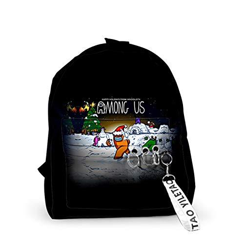 Backpack Mens Laptop Bag Among Us 3D Games Men Backpack Bags Keys Accessories Print Hip Hop Streetwear Cool Students Teenage Boys Girls Couple School Bag (Color : A)