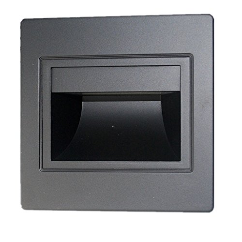 joyMerit Außen LED Wandleuchte Wandeinbauleuchte Treppenbeleuchtung Treppenlicht NEU - Schwarz Kaltweiß, 95mm
