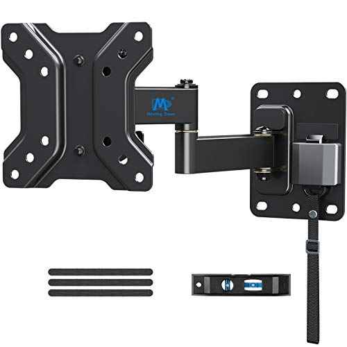 Mounting Dream Lockable RV TV Mount for Most 10-26 Inch Flat Screen, RV Mount TV Bracket for Camper Trailer Truck Boat, Full Motion RV TV Wall Mount Quick Release Lock, VESA 100x100mm, 22 lbs MD2209