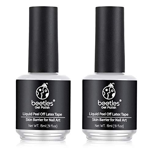 Beetles Latex Liquid Nail Simple Peel off Cuticle Guard for Nail Art...
