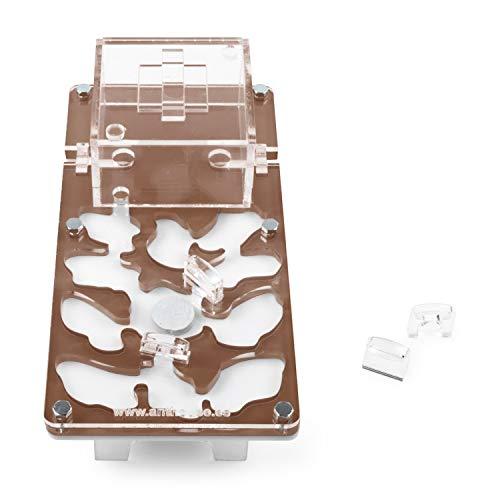 AntHouse - Hormiguero Acrílico NaturColor 20x10x1cm - Seta (Hormigas Gratis) (Marrón)