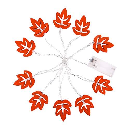 Briszz 10 LED metalen lampenkap slaapkamer kerst esdoornblad decoratieve lichtsnoer Kerstmis kristallen kogel waterdichte koperdraad party micro lampen kerstboomversiering