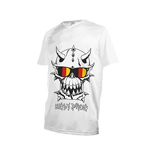 Uglyfrog Designs Bunt Herren Sommer Kurzarm V-Kragen Motorsport/Motorrad/Downhill Moto Cycling Racing Racer T-Shirt