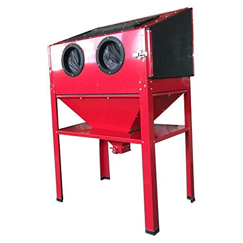 Parts-Diyer 60 Gallon Bench Top Air Sandblasting Cabinet Sandblaster Blast Large Cabinet Air Sand Blaster w/Spray Gun Steel